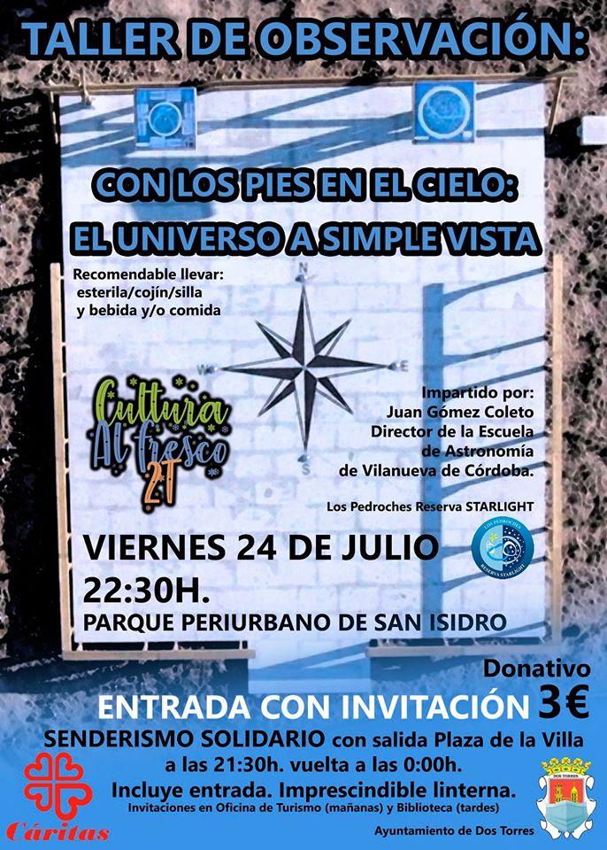 TALLER DE OBSERVACIÓN CULTURA AL FRESCO