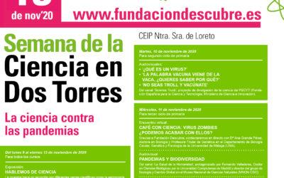 """SEMANA DE LA CIENCIA EN EL COLEGIO DE DOS TORRES – """"LA CIENCIA CONTRA LAS PANDEMIAS"""""""