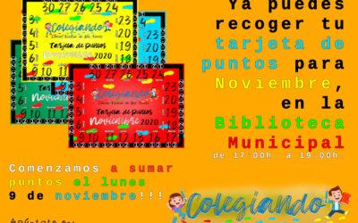 RECOGIDA TARJETAS DE PUNTOS COLEGIANDO