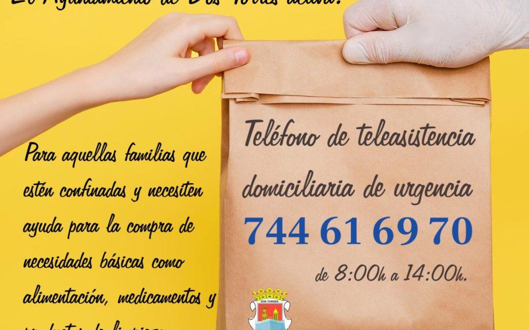 TELÉFONO DE TELEASISTENCIA DOMICILIARIA
