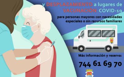 SERVICIO DE ACOMPAÑAMIENTO Y DESPLAZAMIENTO A LUGARES DE VACUNACIÓN COVID-19