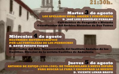 XX JORNADAS DE HISTORIA Y DESARROLLO LOCAL DE DOS TORRES